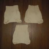 Шерстяные пеленальные штанишки размер 62-68