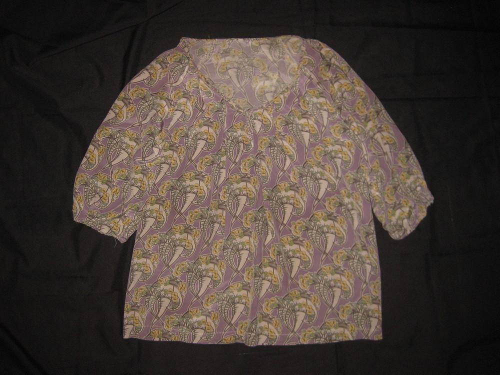 12-14 р-р, натуральный шёлк! блузка в народном стиле фото №1