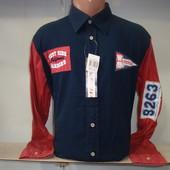 Мужская рубашка W.S. с длинным рукавом.
