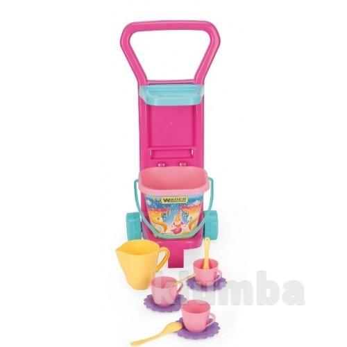 Набор пикник тележка с посудкой вадер 10772 wader фото №1