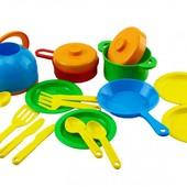 Набор кухонной посуды 2 цвета  Орион 990 игрушечная посудка