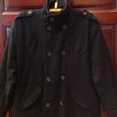 Шикарное двубортное пальто, шерсть, р.54. Срочно! Дёшево!