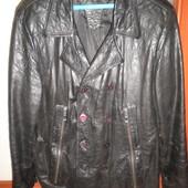 Кожаная итальянская курточка XXL