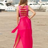 7-12 Женское Платье с шифоновой юбкой Последние