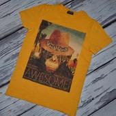 8 лет 128 см Обалденная яркая фирменная натуральная футболка Next Некст