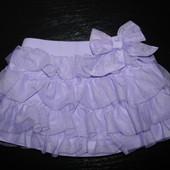 пышная нарядная юбка х/б Baby 9-12 мес состояние отличное