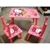 Столик и два стульчика Hello Kitty ( M 0293)