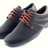 Стильные прошитые туфли для мужчин (К12)