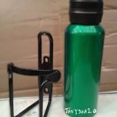 Бутылка для питья велосипедная - алюминий, крепление