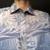 Рубашка муж.100% хлопок, плотная фирменная.р.50 (L)