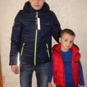 Крутая куртка - жилет  демисезонная для мальчика, три цвета