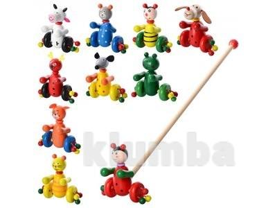 Деревянная игрушка каталка фото №1