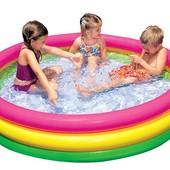 Детский надувной бассейн  Радуга