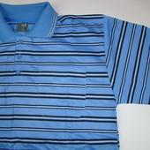 футболка мужская A&Q с воротником (XL-4XL) хлопок код. 5010 цвет голубой