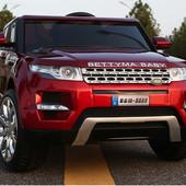 Электромобиль детский Range Rover вишневы, крашеный, ренж ровер
