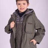 Сктдки Демисезонная куртка с жилеткой для мальчика 122,128,134,140 kiko