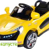 Электромобиль детский, спортивный кабриолет Caretero Aero (yellow)