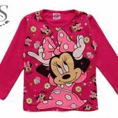 1-2; 5-6; 7-8 лет.Регланы с  Minnie Mouse. Много цветов.