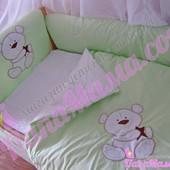 Новинка детское постельное белье в кроватку bеpino аппликация