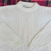 Пуховый ажурный свитерок