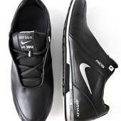 Кроссовки Nike чёрная кожа