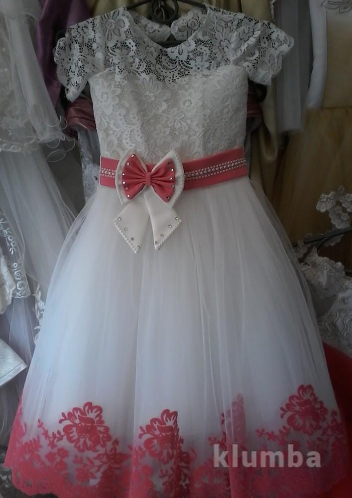 Детские праздничные нарядные платья  возраст 4-9 лет фото №1