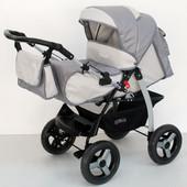 Коляска-трансформер детская Anmar Delio Серый 04 + сумка для мамы