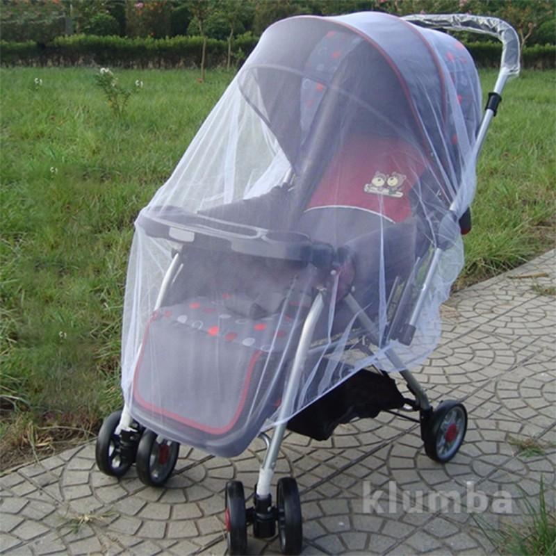 Защитная универсальная москитная сетка на коляску фото №1