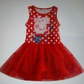 Детское платье Свинка Пеппа, 104, новое