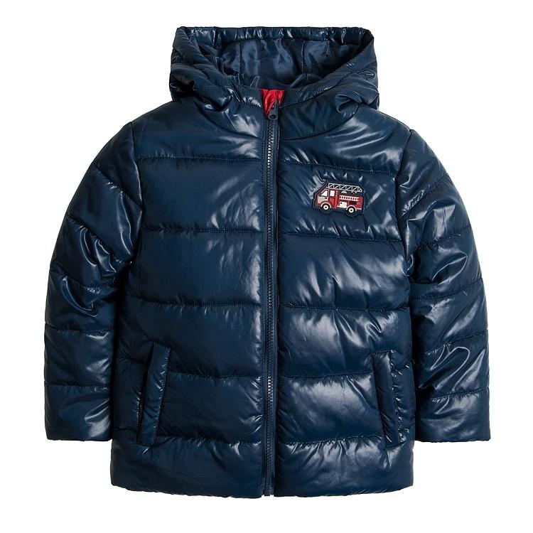 Детская куртка теплая на мальчика синяя smyk  cool club размер 128см наличие фото №1