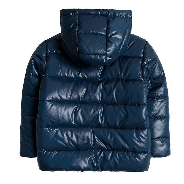 Детская куртка теплая на мальчика синяя smyk  cool club размер 128см наличие фото №2