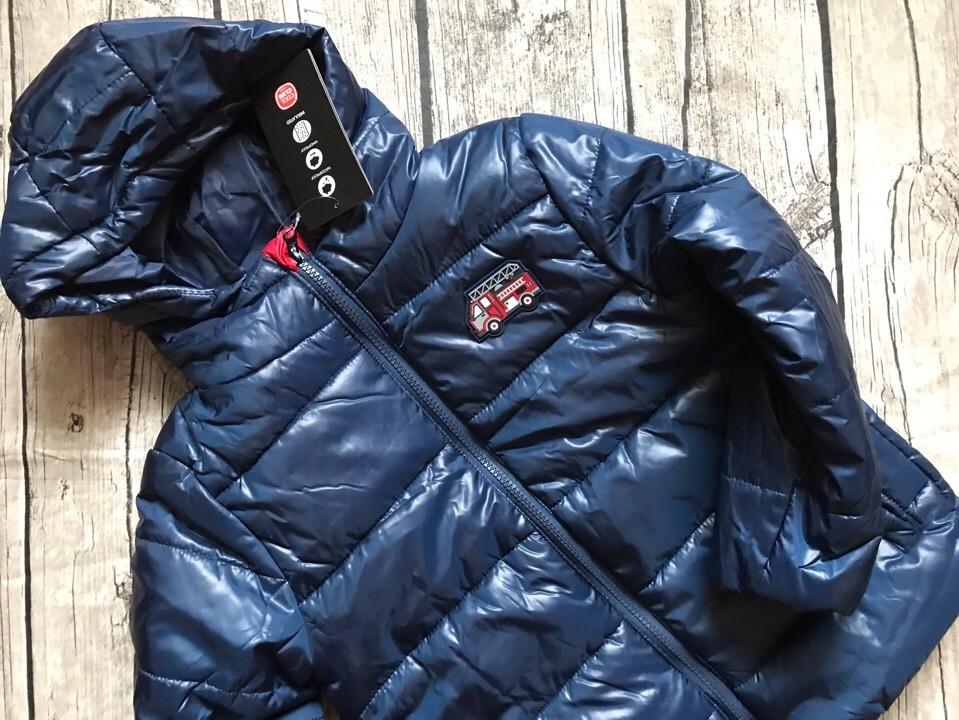 Детская куртка теплая на мальчика синяя smyk  cool club размер 128см наличие фото №4