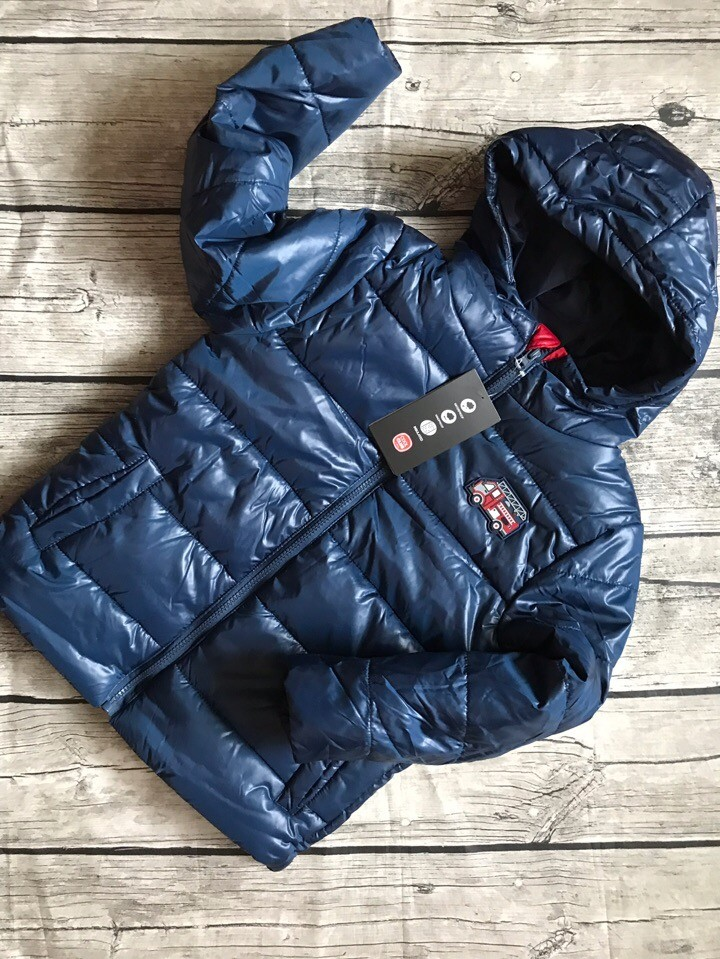 Детская куртка теплая на мальчика синяя smyk  cool club размер 128см наличие фото №5