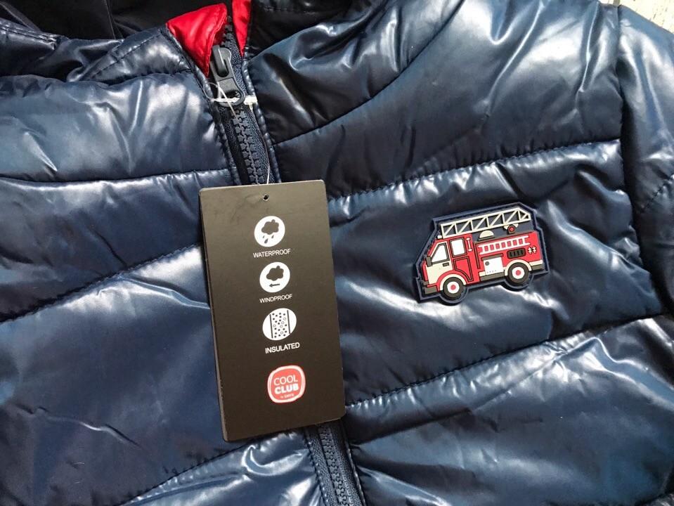 Детская куртка теплая на мальчика синяя smyk  cool club размер 128см наличие фото №6