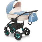 Детская универсальная коляска Camarelo Alicante 15 цвет голубой+белый