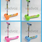 Детский самокат регулируется ручка 4kids scooter до 30кг от 3-х лет