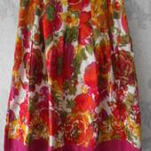 Яркая юбка принт цветы L Отличное состояние