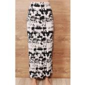 Длинная трикотажная юбка хаотичной окраски