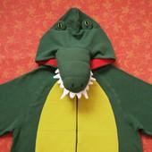 Взрослый флисовый человечек-пижама-костюм Крокодил размер ХS, б/у.