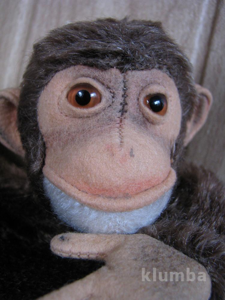Шимпанзе  джоко jocko steiff перчаточная 60-х фото №1