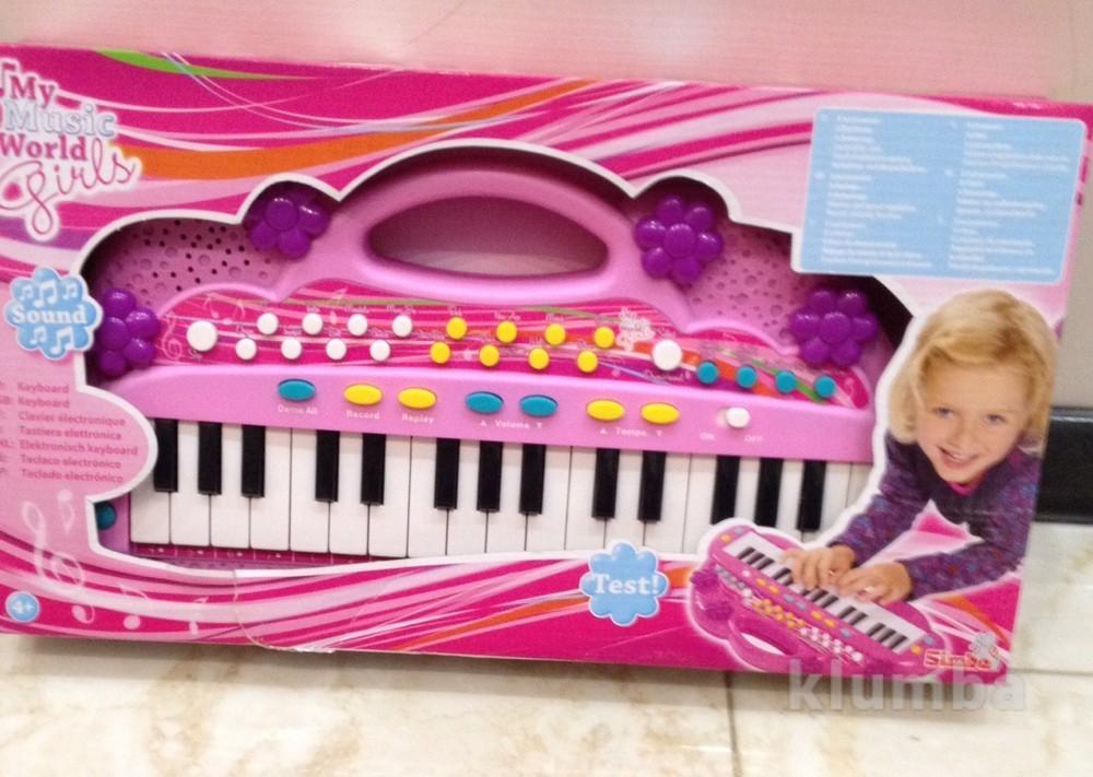 """""""электросинтезатор. девичий стиль"""", 32 клавишы, 6 мелодий, 8 ритмов, фото №1"""