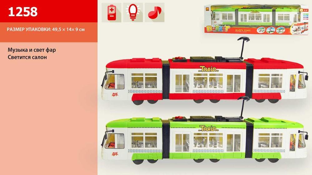 Городской трамвай инерционный фото №1