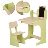 Парта с мольбертом растишка + стульчик, зеленая (102) укр производство