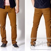 W1483 Коричневые мужские брюки 100%котон