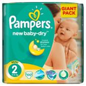 наличие Днепр! памперсы подгузники Pampers new Baby-dry Mini 2(3-6кг)100шт Giant Pack