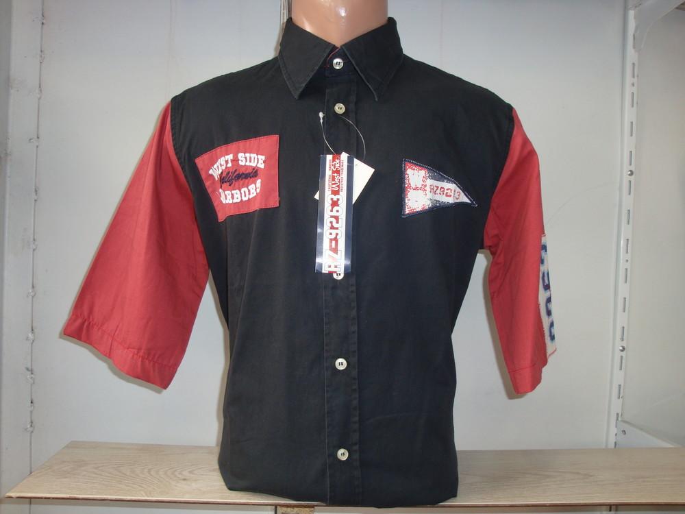 Распродажа мужской рубашки с коротким рукавом W.S. Разные цвета. фото №1