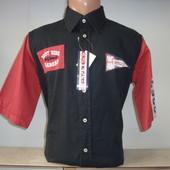Распродажа мужской рубашки с коротким рукавом W.S. Разные цвета.
