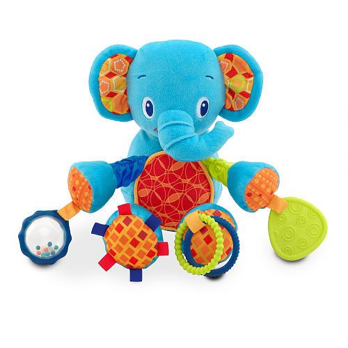 Игрушка-прорезыватель-подвеска слоник, bright starts фото №1