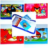 Детские кошельки Angry Birds расцветки для  девочек.