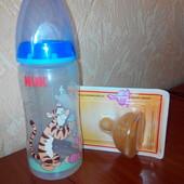 Новая соска и бутылочка Nuk